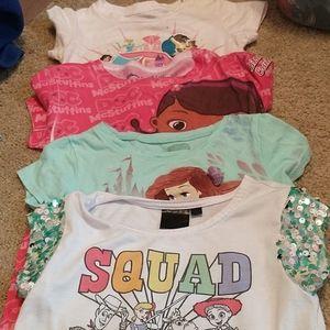 Girls Disney t shirt bundle